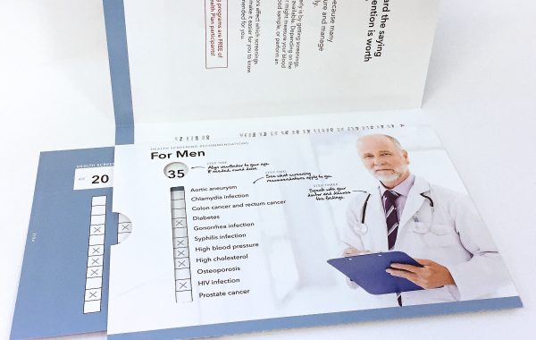 Medical Screening Brochure w/Integrated Slide Chart