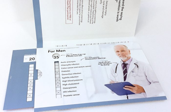 Medical Screening Brochure w/Integrated Slide Chart